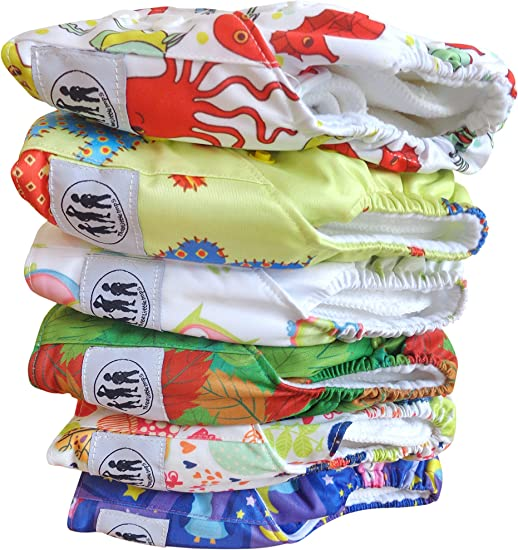 Three Little Imps Cloth Nappy Soft Bamboo Terry inserts Set of 5