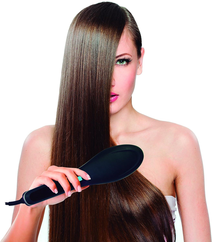Jocca 6580N - Cepillo alisador de cabello, 50 W, color negro mate ...