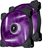 Corsair Air Series SP 140 LED Purple High Static Pressure Fan Cooling - twin pack