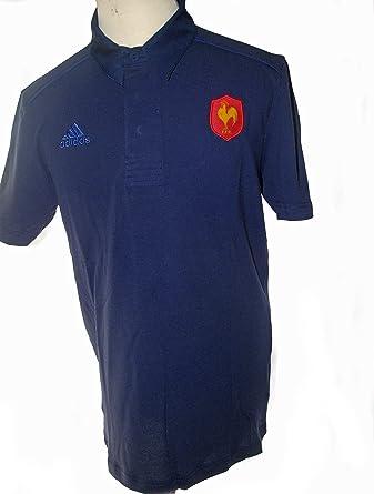adidas Francia FRF Rugby Por Lo Que Polo de Manga Corta 2013-14 ...