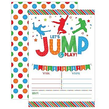 amazon boy bounce house birthday invitation trampoline jump