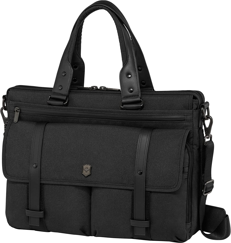Victorinox Architecture Urban Brunswick Laptop Briefcase, Black, 12.6-inch