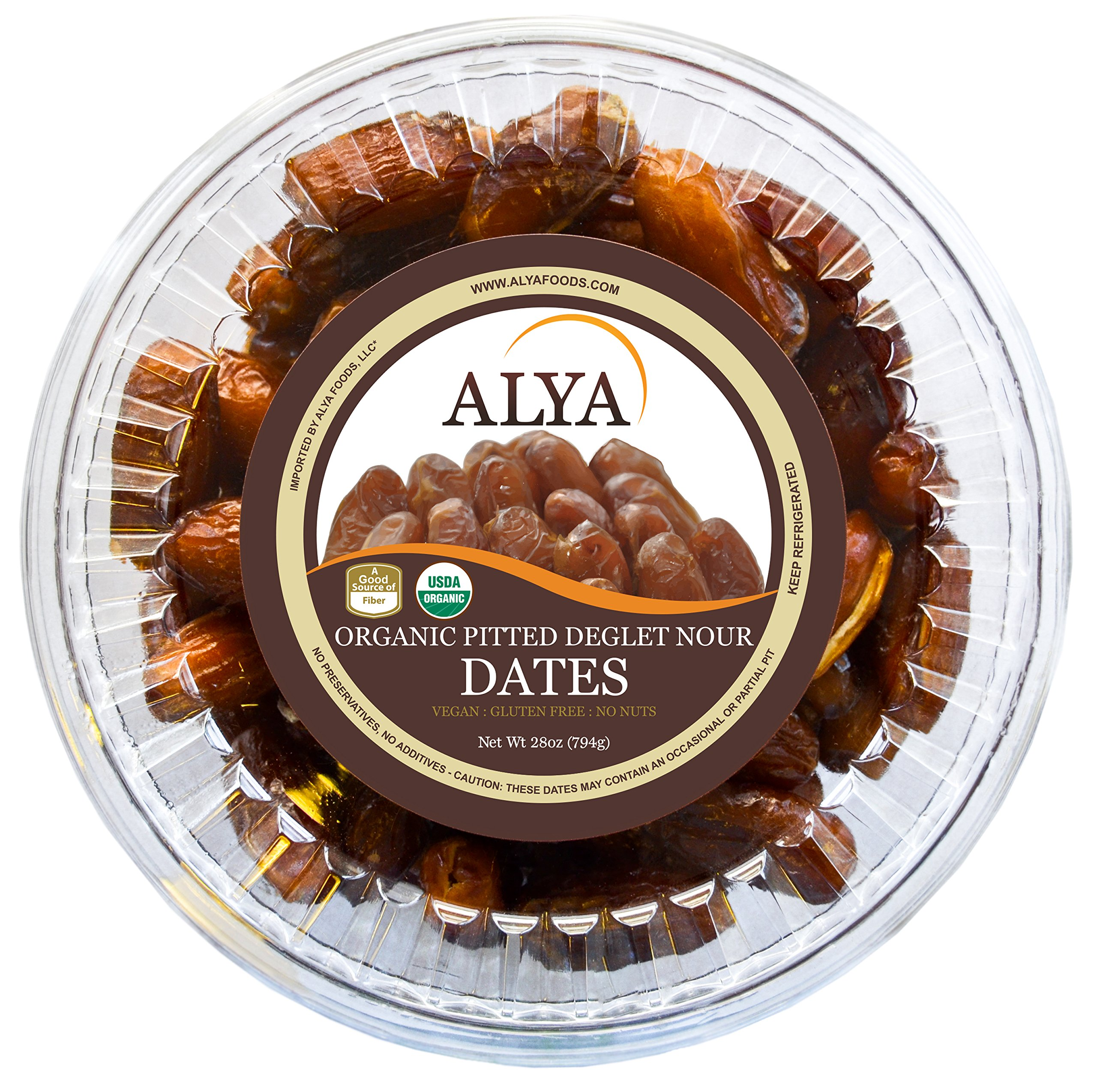 Organic Dates, Pitted, Deglet Noor (28 Ounces) by ALYA (Image #1)