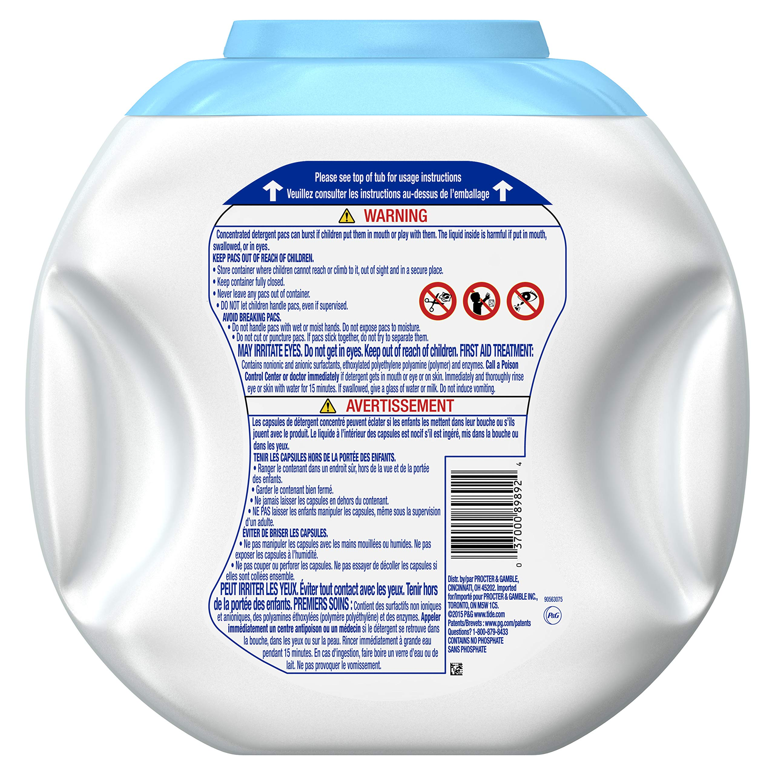 Tide Free and Gentle Laundry Detergent Pods, 72 Count, Unscented and Hypoallergenic for Sensitive Skin by Tide (Image #2)