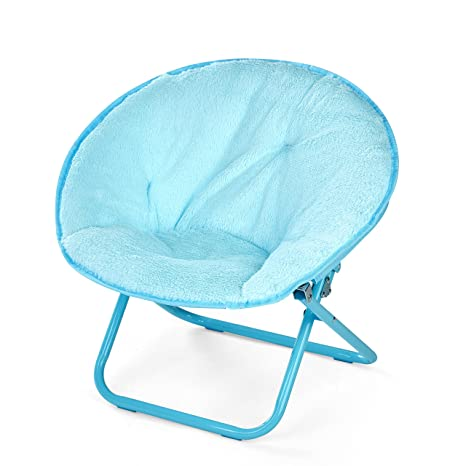 Image Unavailable  sc 1 st  Amazon.com & Amazon.com: American Kids Faux Fur Kids Saucer Chair Teal: Toys u0026 Games
