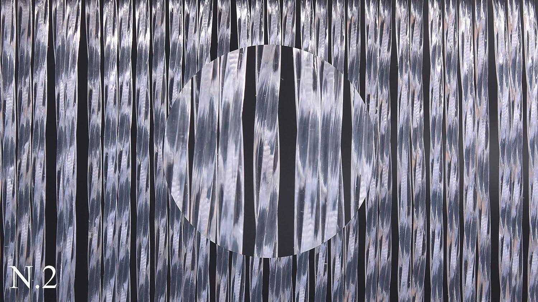Cirillo Tende PVC-Türvorhänge Modell Vesuvio - Eichmaß 100X220   120X230   130X240   150X250 - Fliegenvorhang - Kunststoff-Vorhänge (120X230, Weiß (2))