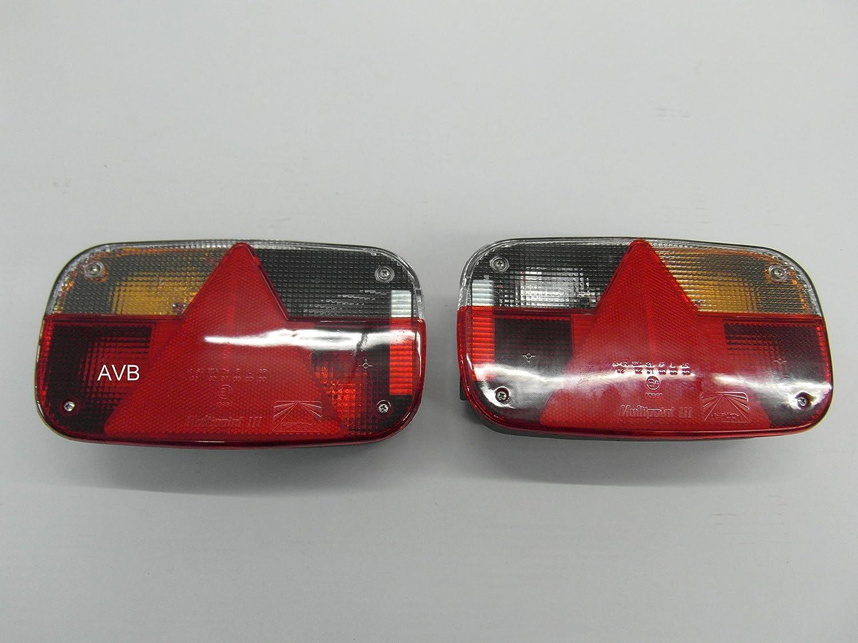 Aspöck Multipoint 3 Rückleuchten Rücklichter Set Für Pkw Anhänger Links Rechts Mit Rückfahrscheinwerfer Auto