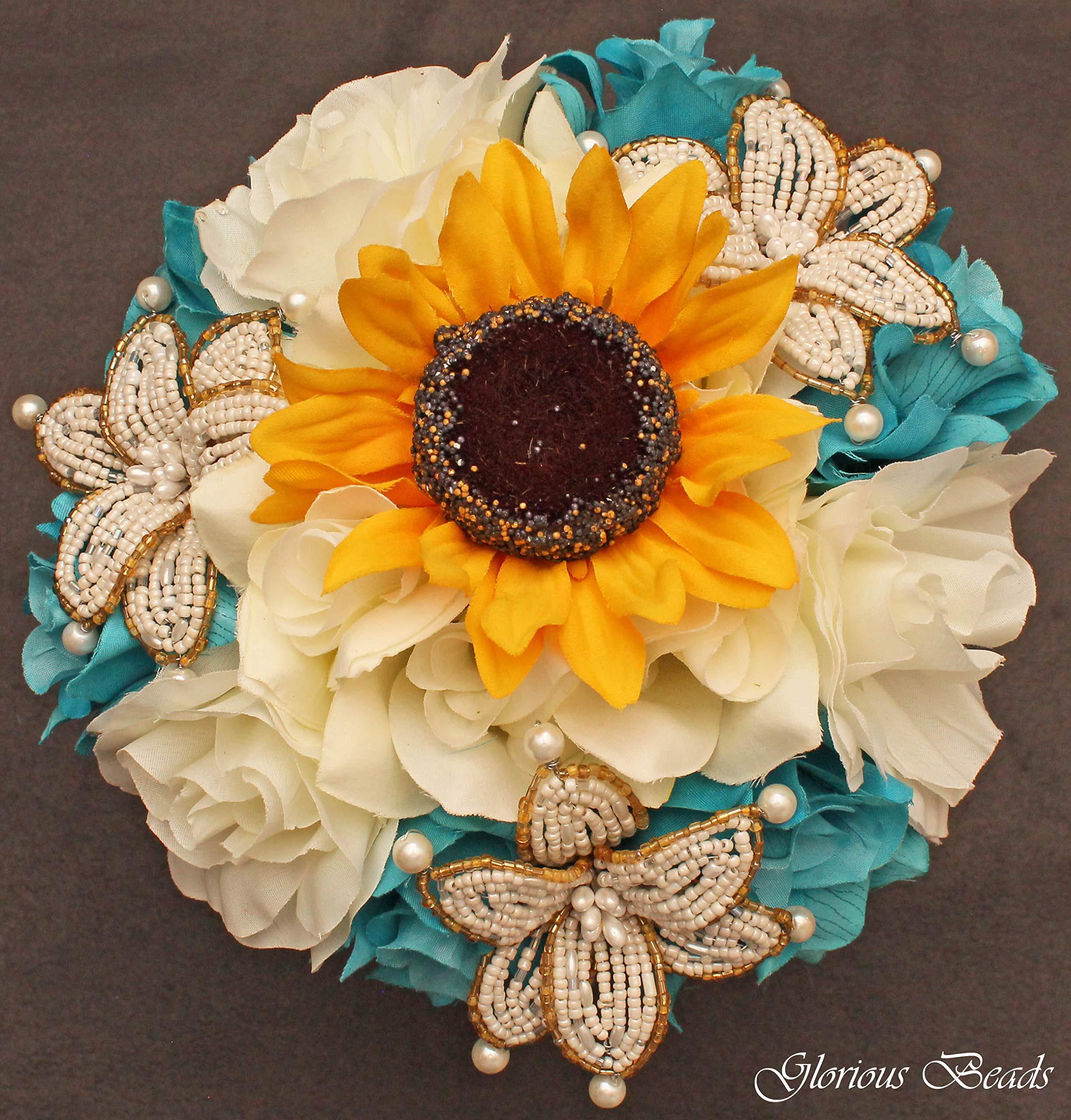 12 Silk Roses Wedding Favor Flower Corsage Pick Yellow