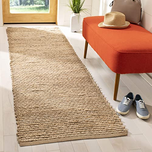 Safavieh Cape Cod Collection CAP355A Hand Woven Flatweave Natural Jute Area Rug 2 3 x 4