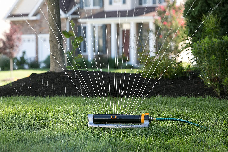 amazon com melnor xt metal oscillating lawn sprinkler with width