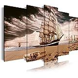 Bilderdepot24 Bastidor Imagen - Cuadros en Lienzo Paseo en Barco Vintage 80x60cm - Made in Germany!: Amazon.es: Hogar