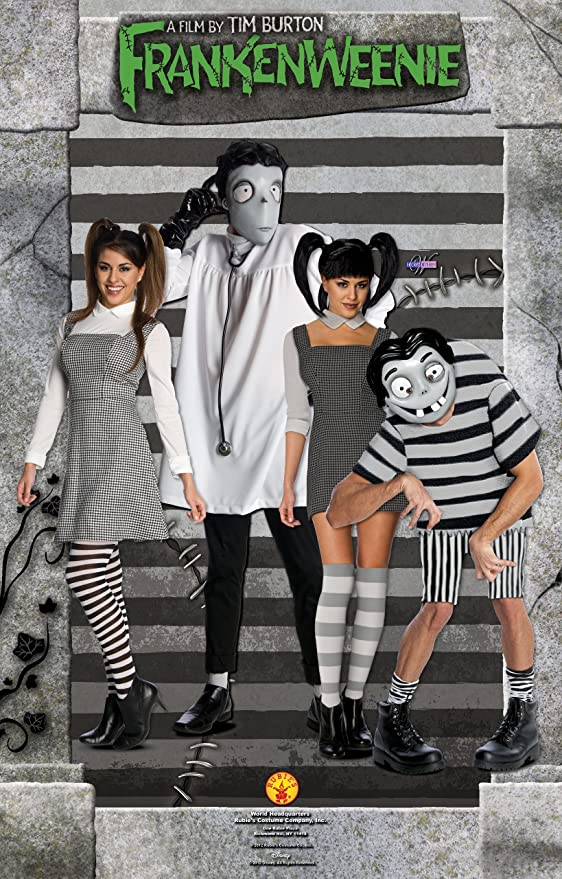 Amazon Com Disney S Frankenweenie Adult Victor Frankenstein Set Black White Standard Clothing