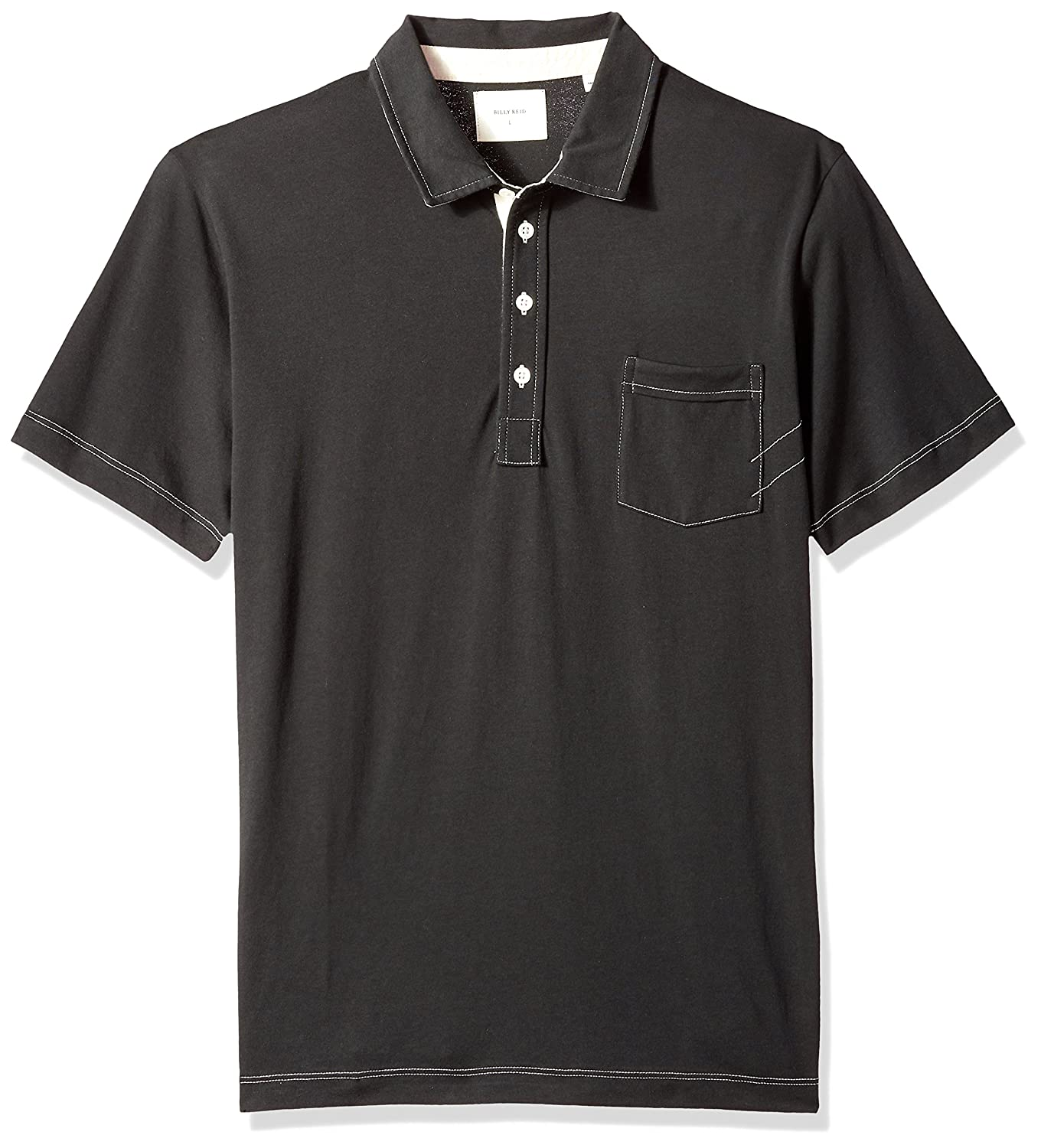 90d55987590 Top1: Billy Reid Men's Short Sleeve Pensacola Polo Shirt with Pocket