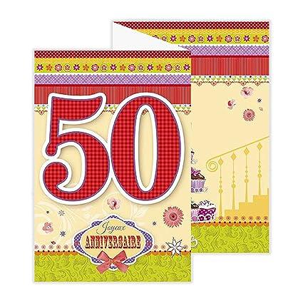afie 882134 a tarjeta 3 Volets cumpleaños 50 años: Amazon.es ...
