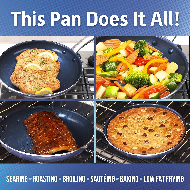 8 Blue Diamond Pan CC002319-001 Diamond Ceramic Nonstick Fry Pan