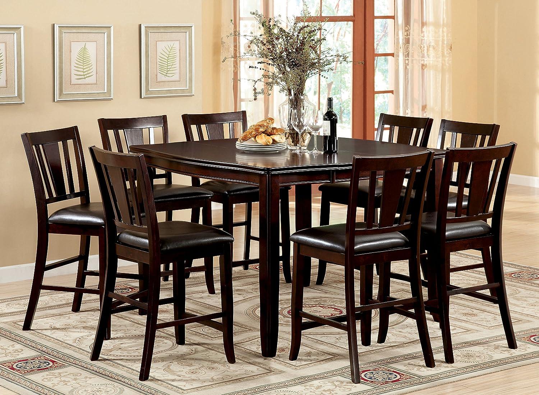 Amazon.com: Muebles de América Frederick 9-Piece Square ...