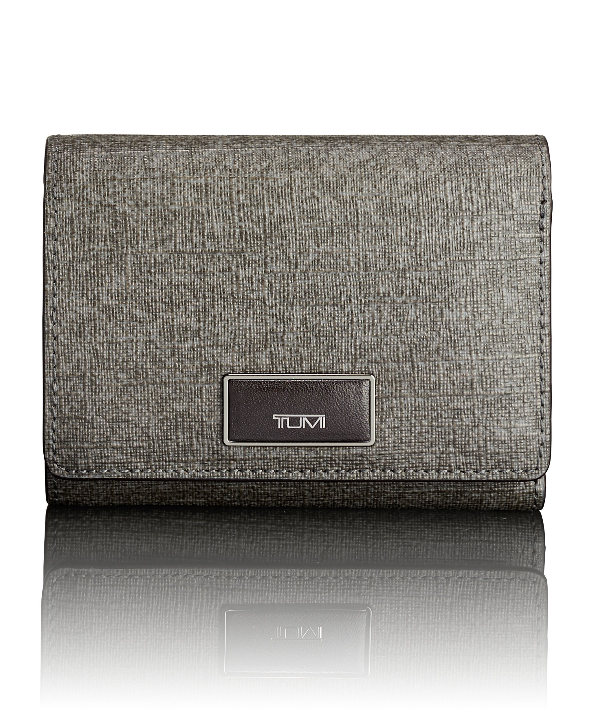 Tumi Women's Belden Tri-Fold Wallet Travel Purse, Earl Grey, One Size