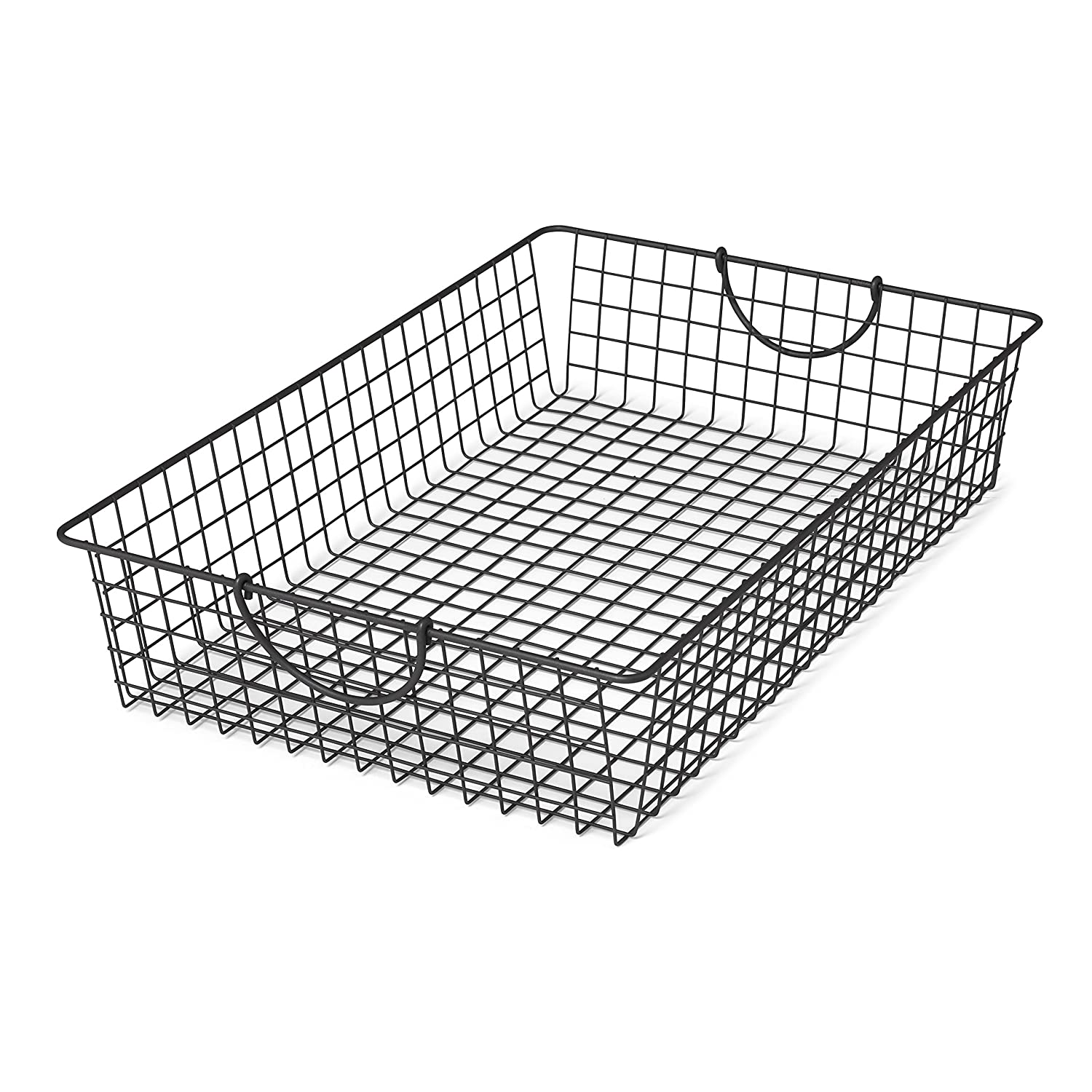 Spectrum Diversified Stowaway Basket, Under Bed Storage, Large, Industrial Gray