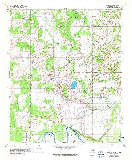 Amazon.com: Oklahoma Maps | 1968 Burneyville, OK USGS Historical ...