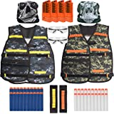 USA Toyz Compatible Nerf Vest Set – 50pc Nerf Party Supplies, Accessories and Games for Kids and Adults, 2 Vests for Nerf Darts and Guns for Boys and Girls