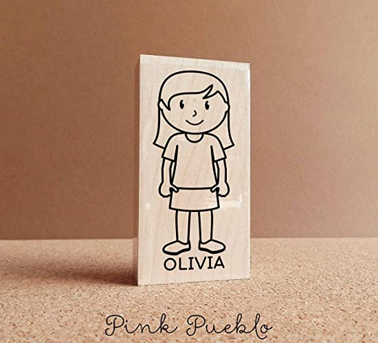 Amazon Personalized Childrens Rubber Stamp Girl Choose