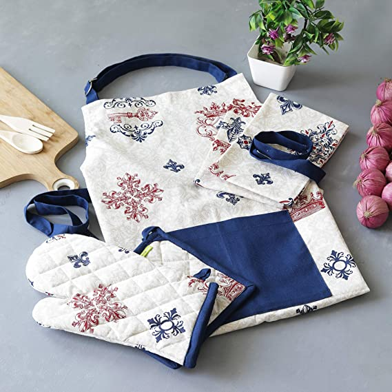 Barbecue Chef cotton Canvas Aprons and 100/% Cotton Waffle Kitchen Towels And Dishcloths Sets Aprons For Men Women,For Cooking 500℉Heat-Resistant Silicone Oven Mitts 9-Piece Oven Mitts,Pot Holders
