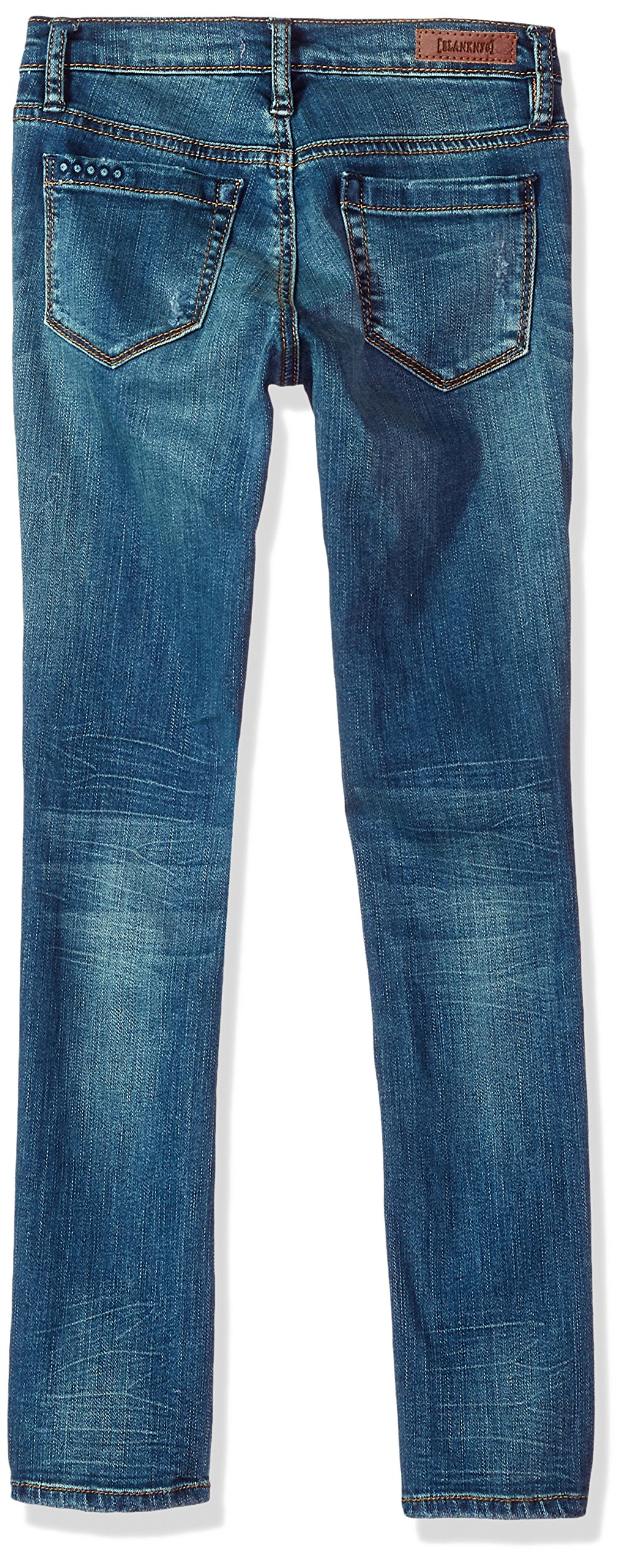 [BLANKNYC] Big Girl's Distressed Super Skinny Pants, no time for DAT, 12 by [BLANKNYC] (Image #2)