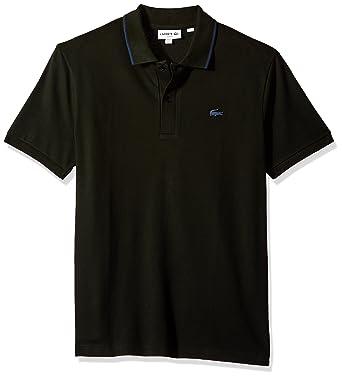 Lacoste Men's Short Sleeve Semi Fancy Stretch Pique Slim Polo, PH3155 at  Amazon Men's Clothing store: