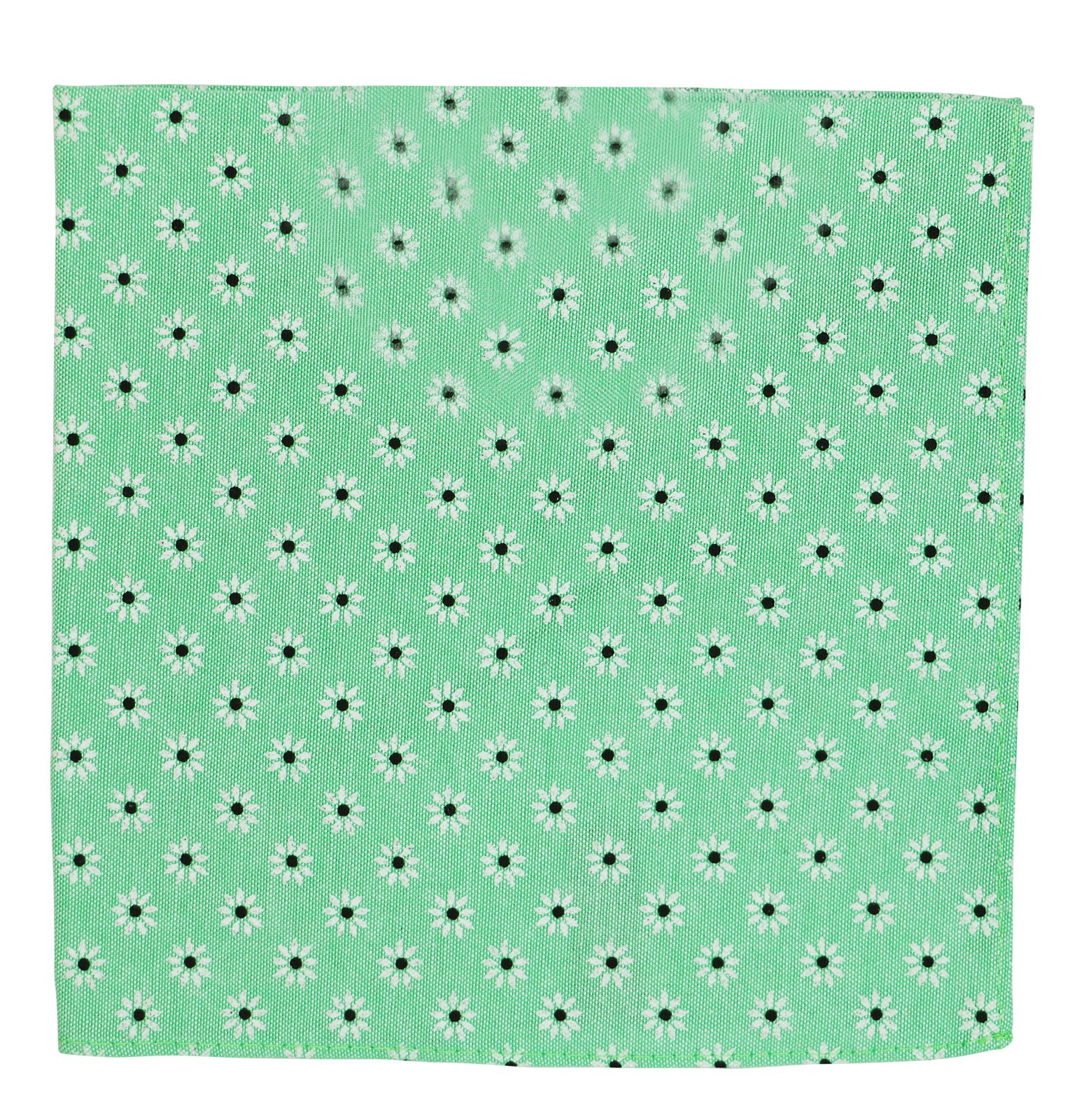 Tommy Hilfiger Oxford Daisy Pocket Square (One Size, Green)