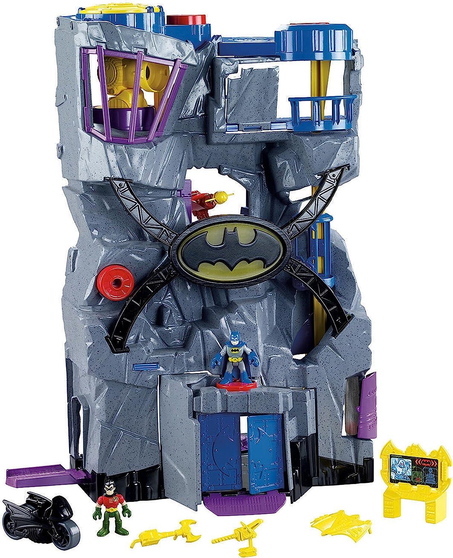 NEW Large Imaginext Batcave Batman DC Super Friends Robin Figures Bat Cave