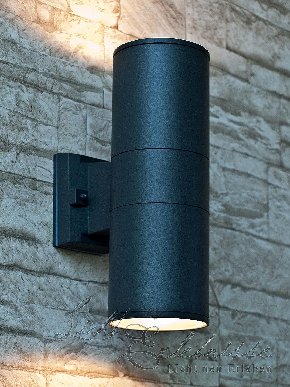 moderne LED Außen Wand Lampen Garten Terrasse Hof Einfahrt Beleuchtung anthrazit