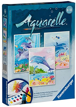 Ravensburger 29310 Delfine Aquarelle Midi 18 X 24 Cm Amazon