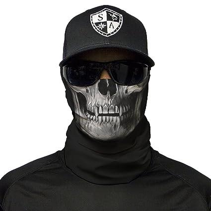 b68fda12d3c Amazon.com   S A 1 Face Shield Black Skull Face Shield