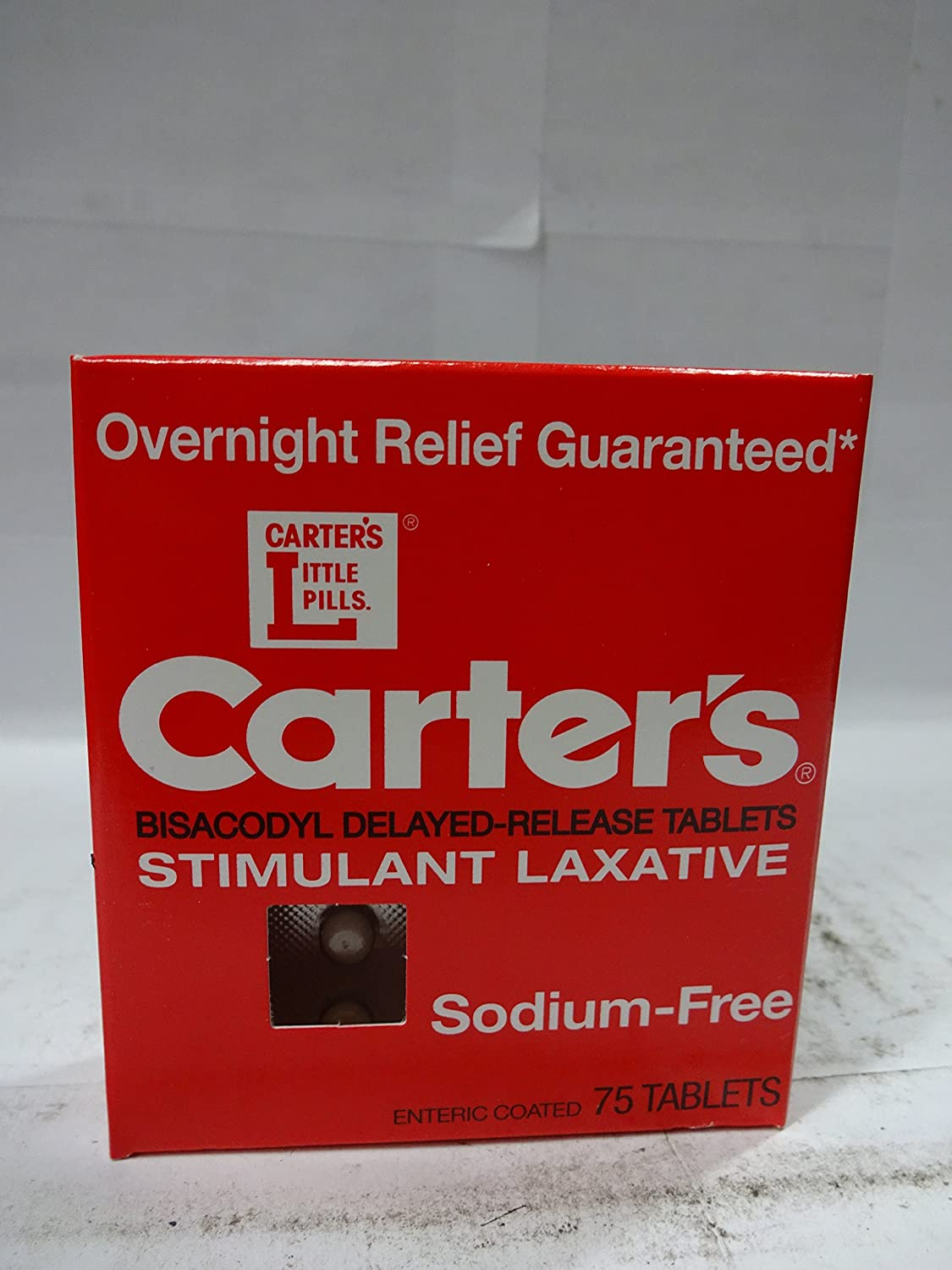Amazon.com: Carters Sodium Free Stimulant Laxative - 75ct (Pack of 4): Health & Personal Care