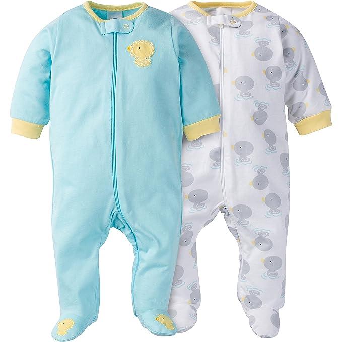 607ddbf14636 Amazon.com  Gerber Baby 2 Pack Zip Front Sleep  n Play