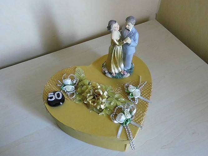 Geldgeschenk Geschenkbox Goldene Hochzeit Amazon De Handmade