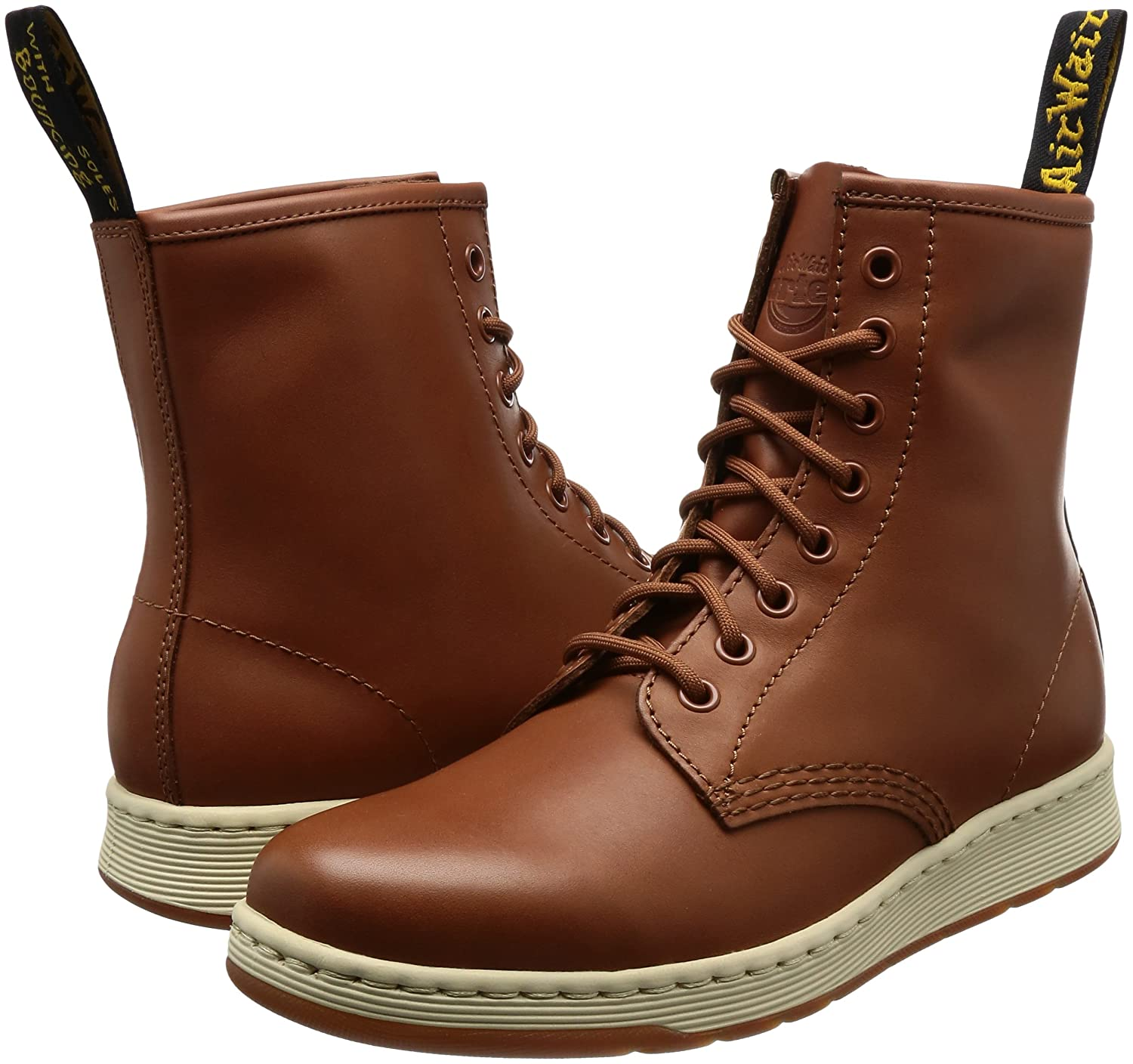 Dr. Martens Unisex Newton 8-Eye Boot B01N6LQOTV 3 M UK|Oak Temperley/Match Oak Temperley Binding