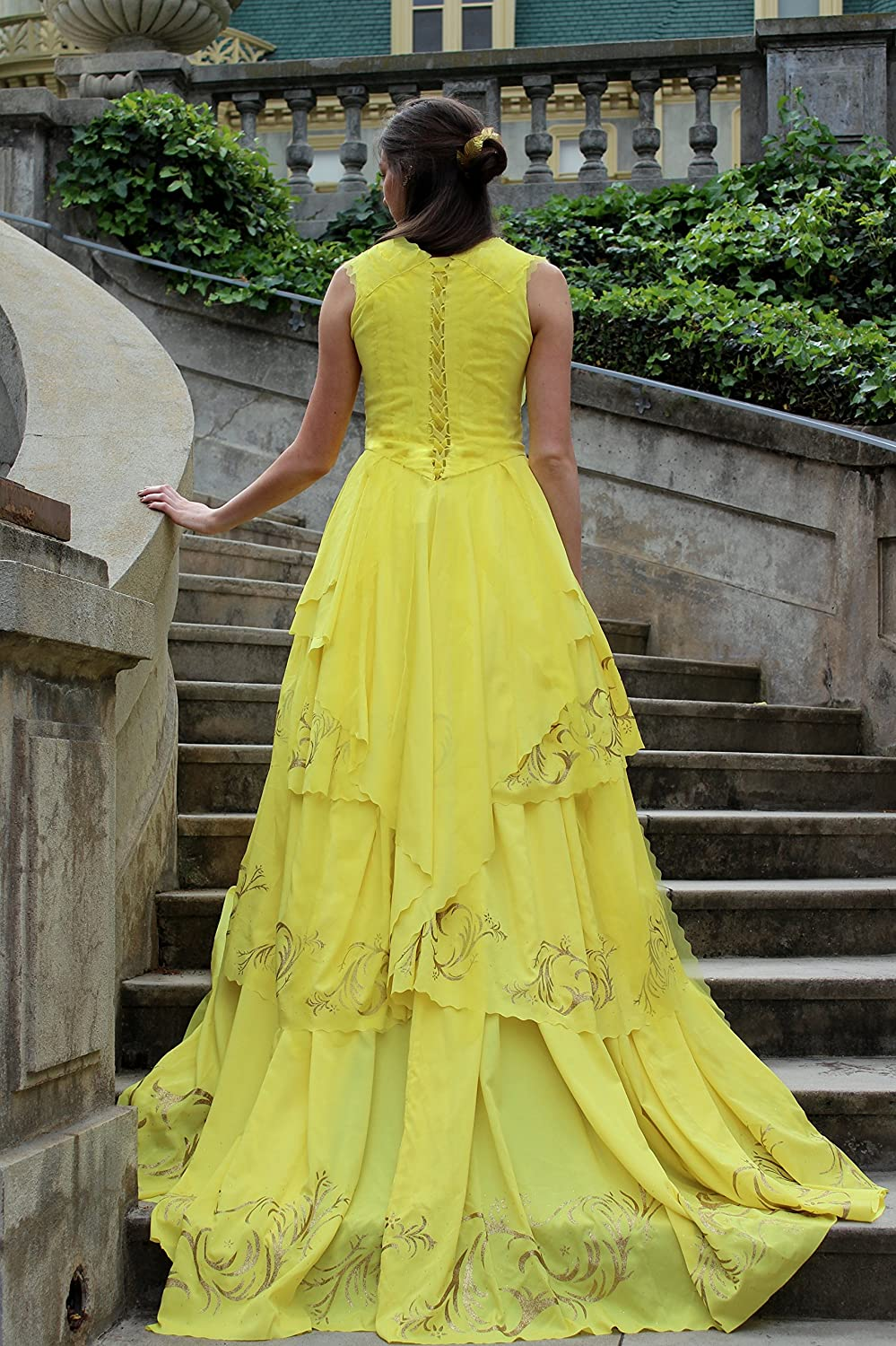 Belle Dress 2017 Beauty and the Beast Costume Emma Watson Party Ball Gown Adult