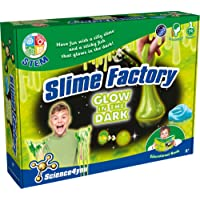 Science 4 You, Slime Factory Glow in Dark Slime Kit with Educational Stem Experiment Book