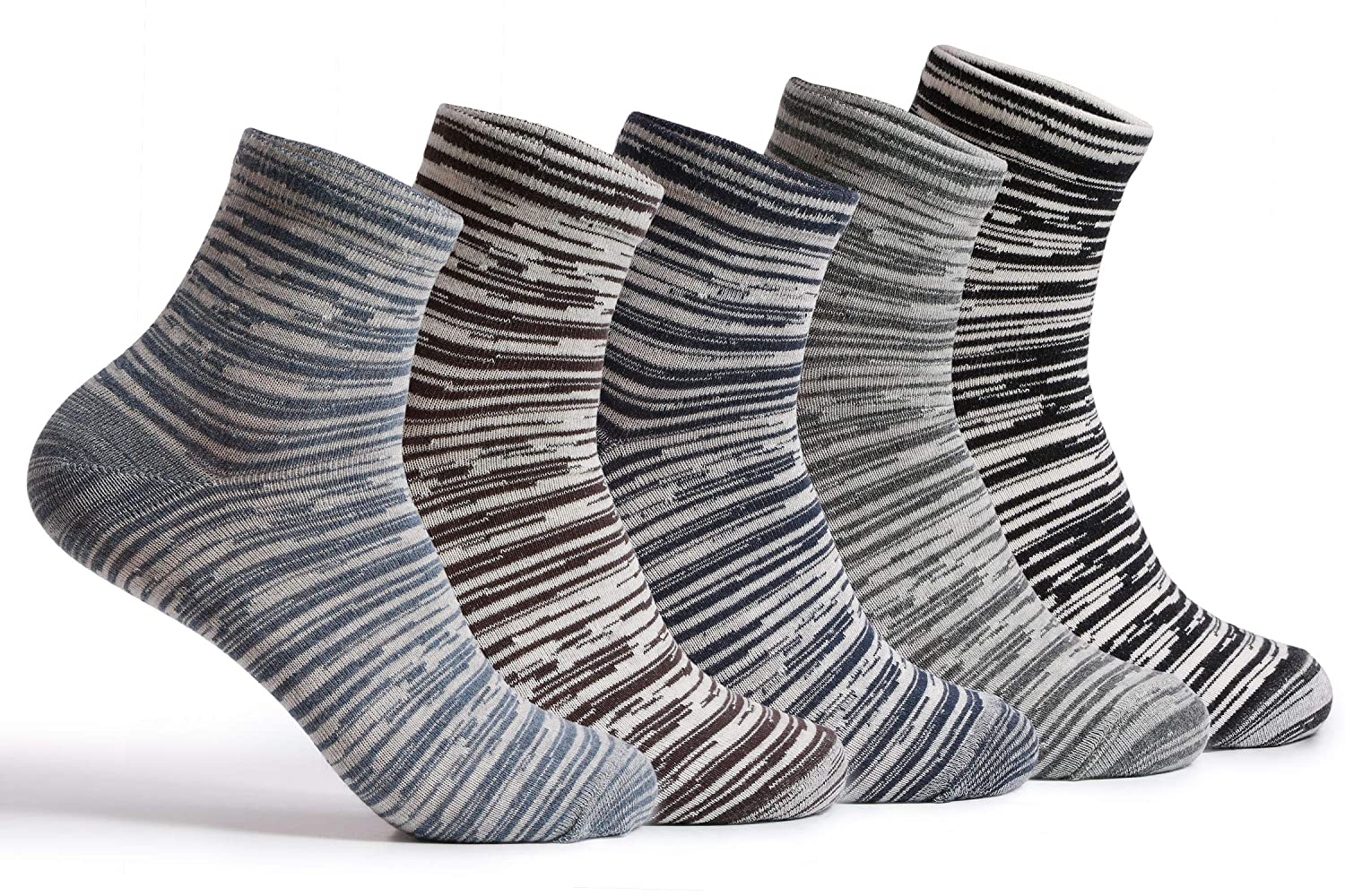 30ae6fc71b2 Supersox Combed Cotton Metallic Design Ankle Length Socks for Men Pack of  5  Amazon.in  Clothing   Accessories