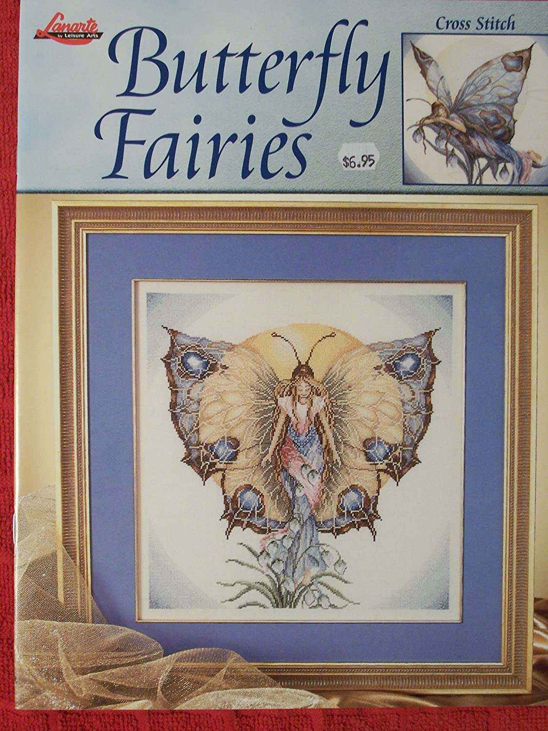 amazon com butterfly fairies counted cross stitch charts
