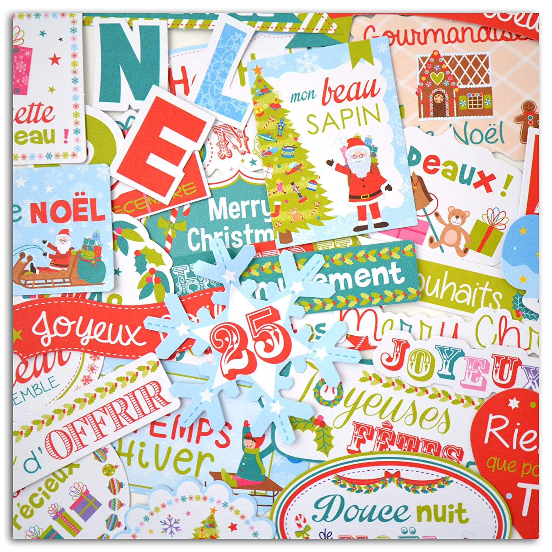Toga fpd66 Natale al Paese dei Giocattoli –  Set di 36 Forme Tagliate Die-Cuts Carta Blu/Rosso/Verde 8, 5 x 15, 5 x 1 cm 5x 15 5x 1cm