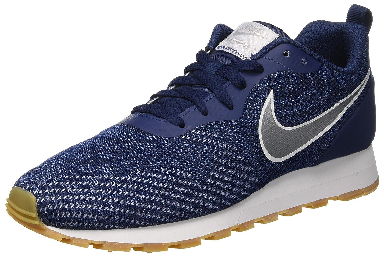 Nike MD Runner 2 Eng Mesh, Zapatillas de Deporte para Hombre 44 EU|Multicolor (Midnight Navy/Metallic Silver/Gym Blue 402)