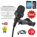 [BIack Friday Sale] Lavalier Microphone Set - Omnidirectional lavalier lapel mic Best For iPhone & Android - Easy Use For Recording Youtube, Video Conference, Podcast, Voice Dictation