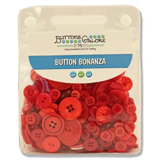 Buttons Galore and More Basics & Bonanza Collection - Extensive Selection of Novelty Round Buttons for DIY Crafts, Scrapbooking, Sewing, Cardmaking, and Other Art & Creative Projects