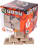 Fire starter cubes - bbq and grill charcoal starter - pack 50 pcs - natural firestarter squares 100% Waterproof - fireplace starters - burns up to 12 min - Firestarter - igniter for fire