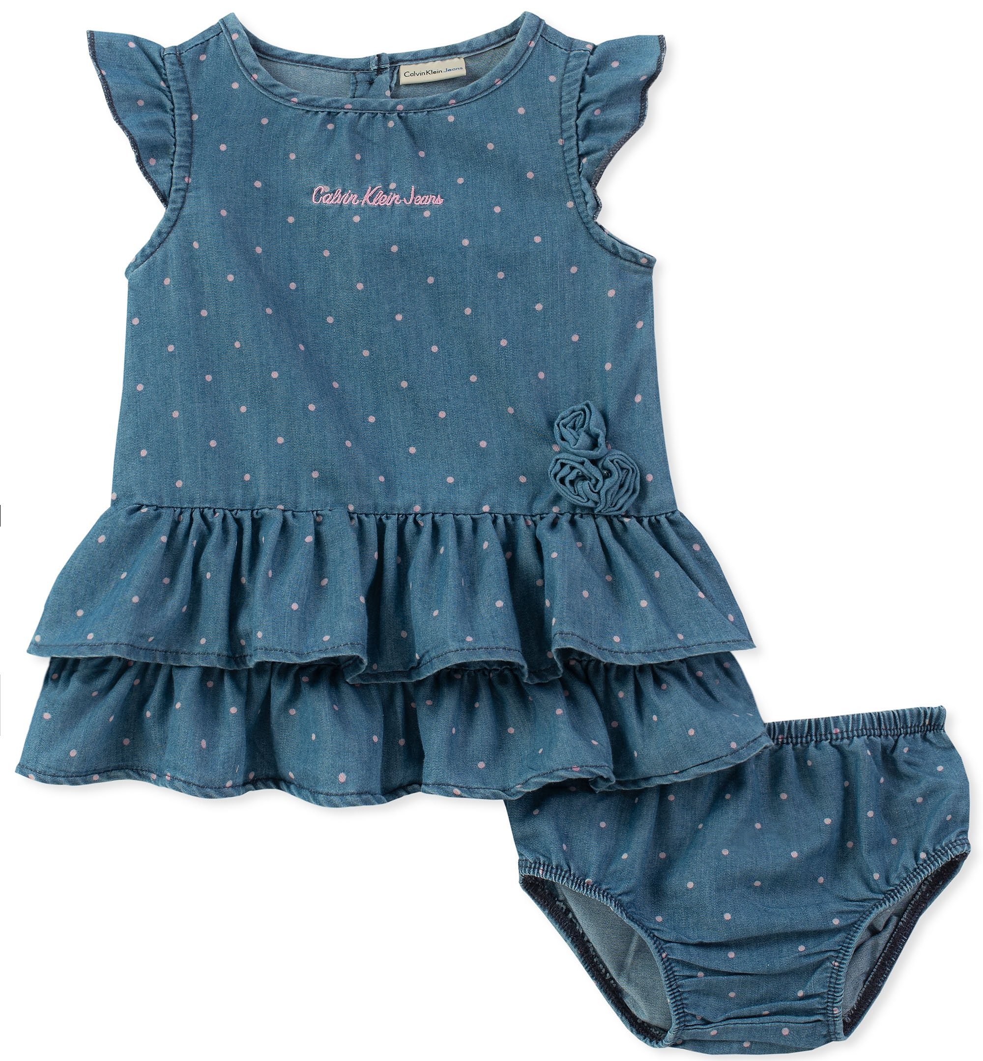 Calvin Klein Baby Girls Dress with Panty