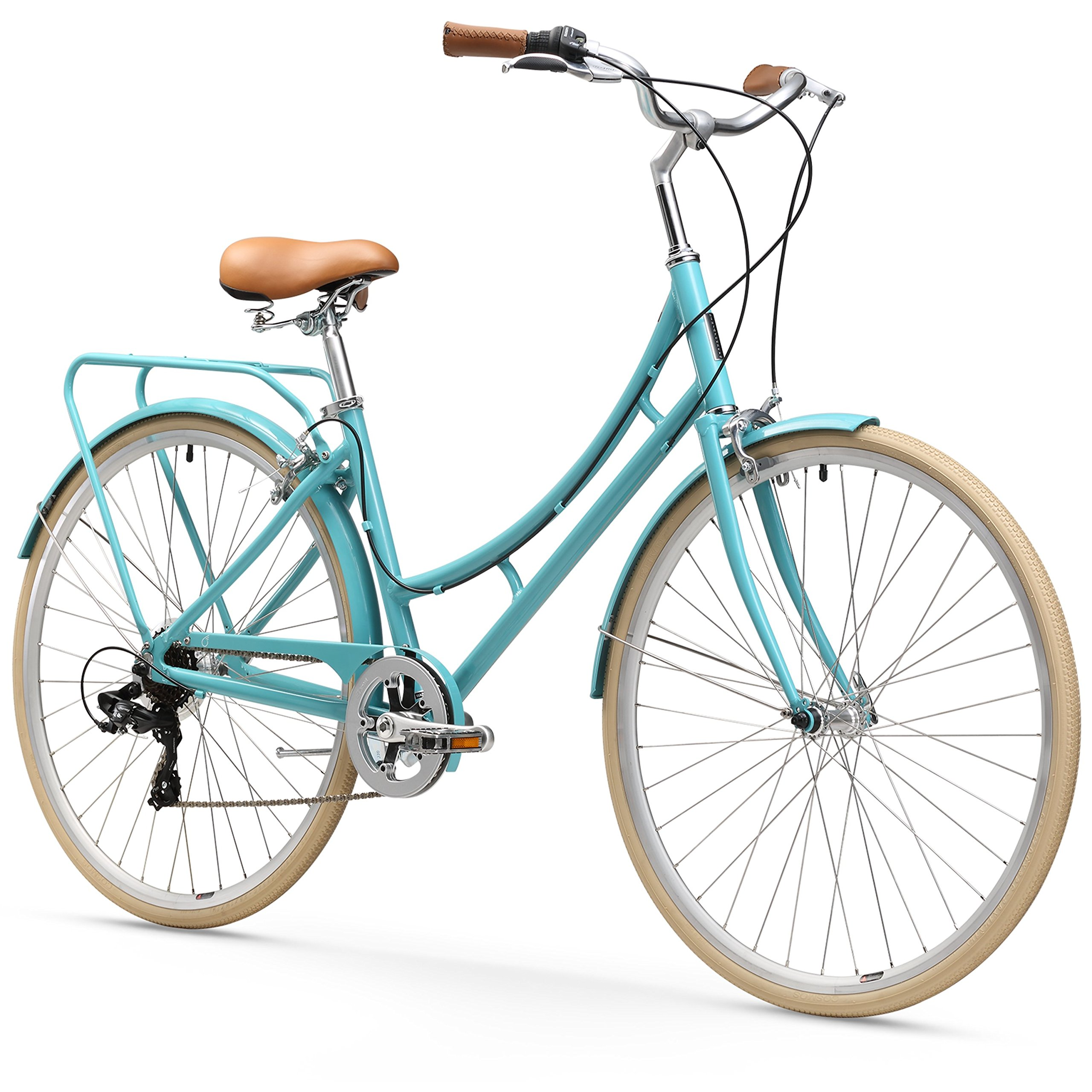 sixthreezero Ride in the Park Women's 7-Speed City Bicycle, 17-Inch Frame/700C Wheels, Blue