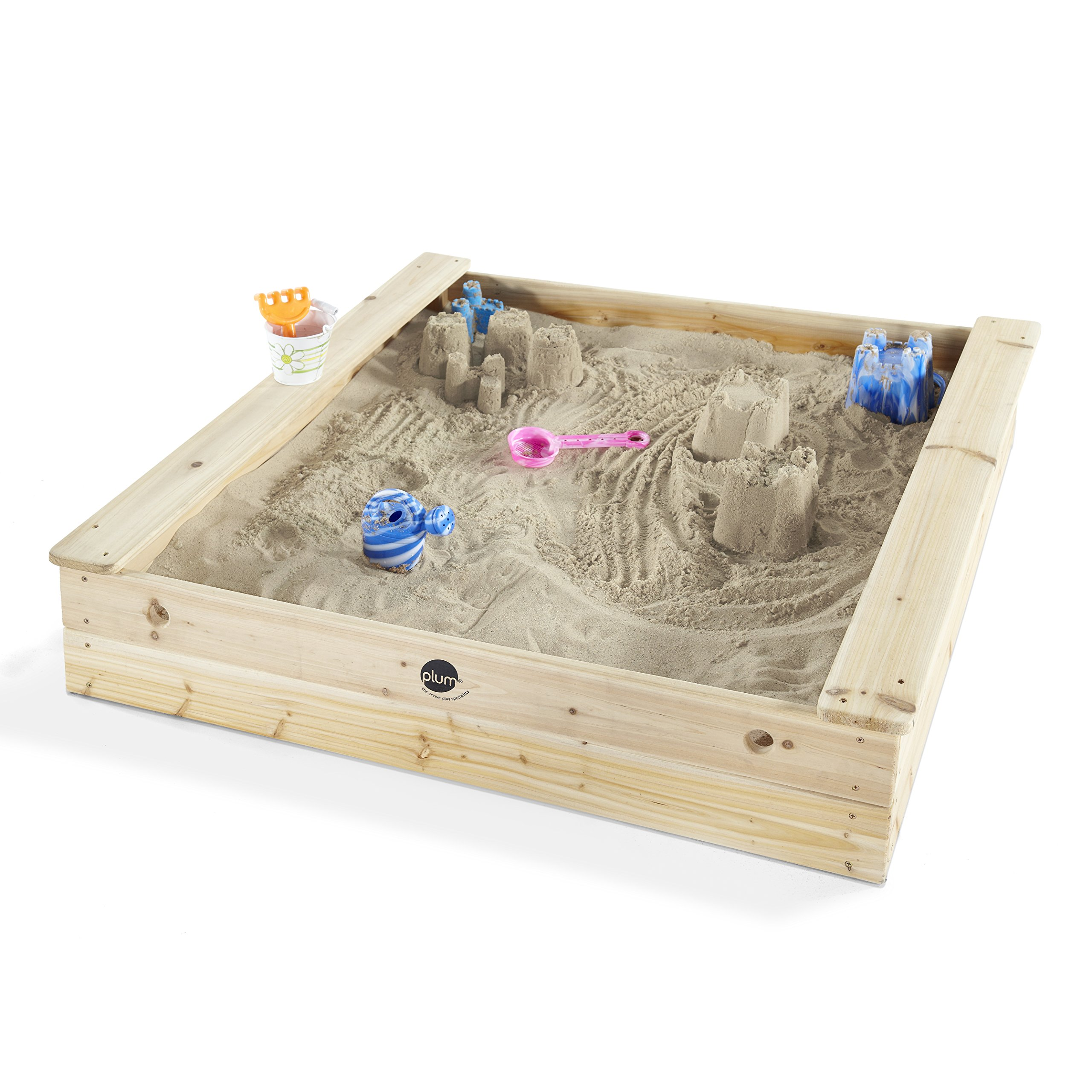 Plum Square Outdoor Play Wooden Sand Pit by Plum
