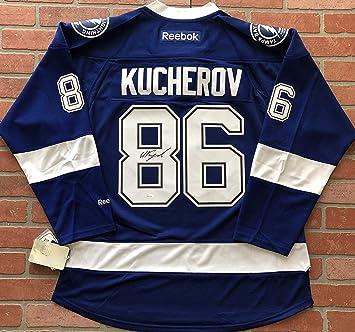 Nikita Kucherov autographed signed Reebok jersey Tampa Bay Lightning ... fb8db854a
